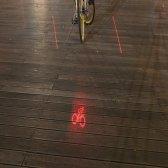 자전거 레이저 후미등 심볼 표시