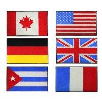 국기 매트 60cm X 85cm 프랑스 쿠바 캐나다