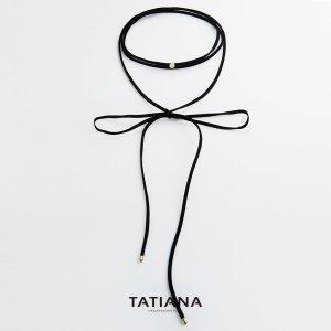 타티아나 코인 롱 리본 초커 이미지