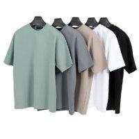[예약발송판매][에두아르도 자체제작][5팩 세트]세미오버 반팔 티셔츠 스탠다드