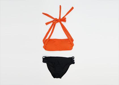 [9964]오렌지_bk[수영복,여성수영복,비키니,형광비키니,오렌지비키니,홀터비키니]