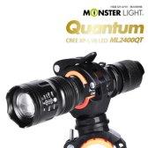 와이디인터내셔널 몬스터라이트 퀀텀 LED 자전거라이트 ML2400QT 거치대포함