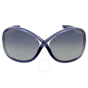 70aed28c93b11 LASHOP Tom Ford Whitney Oversized Dark Grey Sunglasses FT0009 0B5