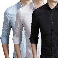 남성 기본 와이셔츠 긴팔 반팔 슬림핏 교복 빅사이즈까지 다양한 디자인