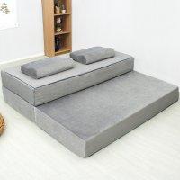 20센치 3단 접이식 메모리폼 바닥 침대 매트리스