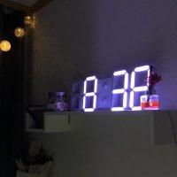 인테리어벽시계 LED GPS 3D 전파 시계