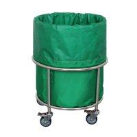 세탁물카트 세탁물보관함 빨래수거함 사각 방수포 스텐 병원용 YB-LH618(방수포포함)