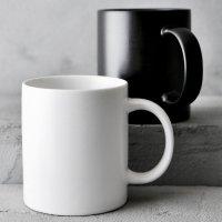 무광 화이트 블랙 머그컵 350ml 커피잔