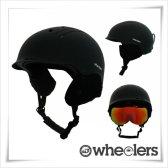 휠러스 2017 스노우 헬멧 WH-100 블랙