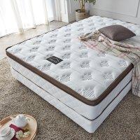 라텍스 탑 7존 독립 투 매트리스 호텔식 침대 브라운 K (킹 사이즈)