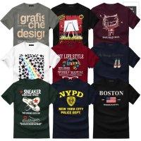 그래픽 디자인 44종 남녀공용 커플 반팔 티셔츠 남자반팔티 빅사이즈 M-4XL