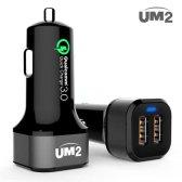 아임커머스 UM2 QC302 2포트 퀄컴 고속 차량용충전기