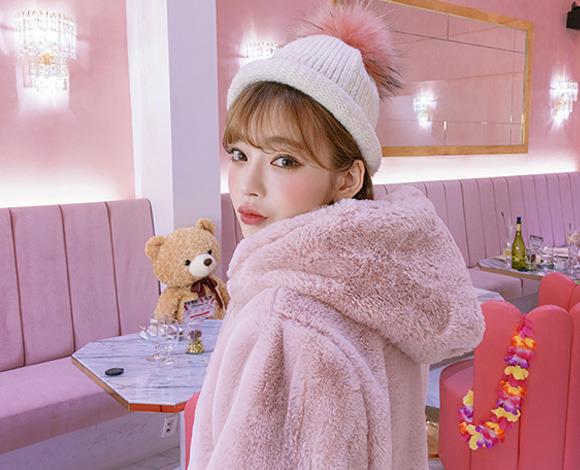 [CHUU] 사랑에 빠진 핑크 hood jacket