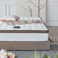 라텍스 탑 7존 독립 스프링 평상형 침대 브라운 K (킹 사이즈)