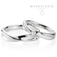 메드스튜디오 인피니티IV 14k 18k 백금 심플 예물 커플링 결혼 반지