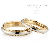 메드스튜디오 밀그레인 심플 예물 커플링 결혼 반지 14k 18k 기념일 선물