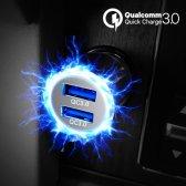 디씨네트워크 퀄컴 퀵차지 3.0 듀얼 차량용 고속 충전기