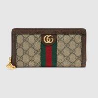 [구찌 오피디아] 여성용 GG 지퍼 달린 지갑