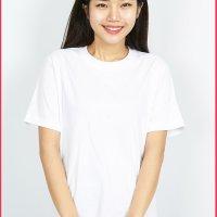 30수 백색 반팔 라운드 단체 티셔츠