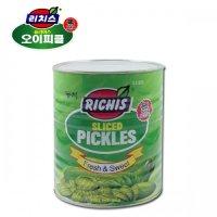 [리치스] 오이피클 슬라이스 3kg x 6개