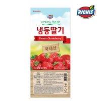 [대량구매] 리치스 밸리후레시 가당 냉동딸기 1kg x  8개