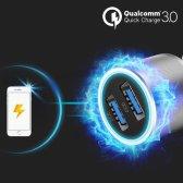 이츠라이프 퀄컴 퀵차지 3.0 듀얼 메탈 차량용 고속 충전기
