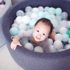 아기 원형 볼풀장 유아 범퍼