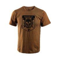 해저드4 오퍼레이터 스컬 반팔 티셔츠 (코요테)