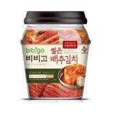 CJ제일제당 비비고 썰은 배추김치 더풍부한맛 용기 500g