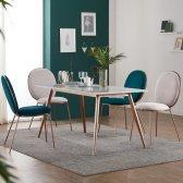 헤이미쉬홈 엘리 로즈 골드 대리석 4인용 6 식탁 테이블