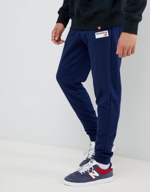 9545d0b1d8c New Balance small logo joggers in navy MP83515_PGM