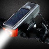 자전거 태양광 충전 전자벨 라이트