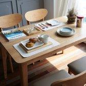 레트로하우스 코코로 K 4인용 원목식탁세트 벤치형