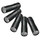 5 UV Ultra Violet Blacklight 9 LED Flashlight Torch Light Outdoors