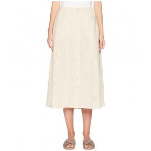 327dcbe24c6 [정품]Eileen Fisher Button Front Skirt 80619 Natural