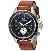 Vestal ZR2 Leather Quartz Stainless Steel Casual