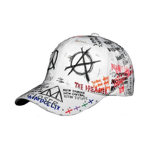 [강타, 믹스나인 김재오 착용][Motifest] Tough Flag Cap Graffiti Ver. Type2 (White)