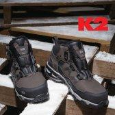 K2 방한화 방한 겨울 안전화 현장화 보아다이얼