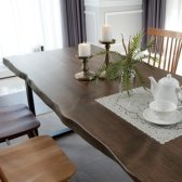 뉴송 원목 우드슬랩 식탁 카페 테이블