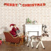 순록 사슴 썰매와 산타클로스 풀세트/사슴썰매장식