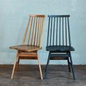 리볼브 원목 회전 식탁 의자