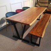 꼬우꼬 우드슬랩4 원목식탁 테이블 6인용 기본형