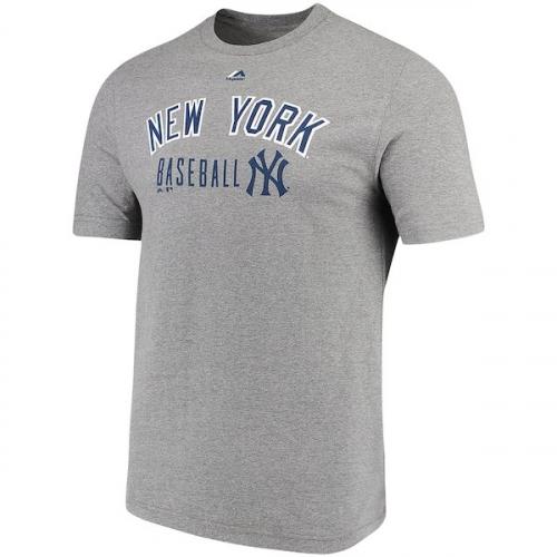 [미국]2991141 Mens New York Yankees Majestic Heathered Gray Open Opportunity Domestic T-Shirt