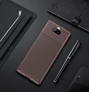 남성 남성을 위한 Sony Xperia XA3 초피복 섬유섬유 실리콘 연성 TPU 폰카파 펀다의 경우 [무료배송]