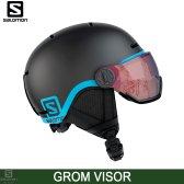 살로몬 1819 그롬 바이저 헬멧 블랙색/GROM VISOR