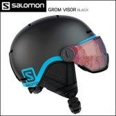 살로몬 1819 GROM VISOR 주니어 스키 스노우보드 헬멧 Black