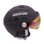 커플 겨울 스노우보드 렌즈 스키웨어 일체형 헬멧