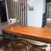 멀바우 원목 서랍 식탁 테이블 4인용