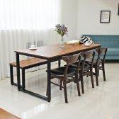 에그스타 멀바우 나무 북유럽 4인용 테이블 1200