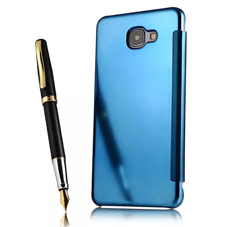 (해외) 갤럭시 A9 케이스 럭셔리 스마트 미러 가죽 삼성 프로 전화 A9000 펀다 q